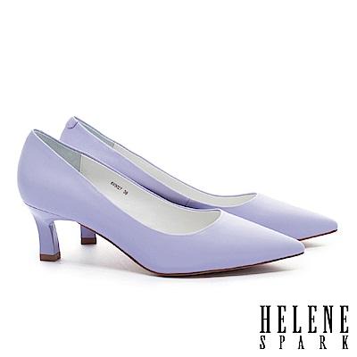 高跟鞋 HELENE SPARK 法式極簡雅緻純色羊皮尖頭高跟鞋-紫