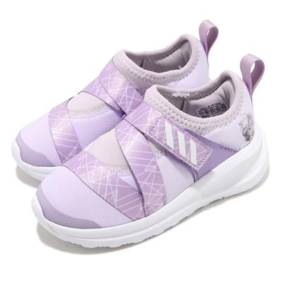 adidas 慢跑鞋 FortaRun X Frozen 童鞋 愛迪達 聯名 冰雪奇緣 襪套式 小童 紫 白 FV4262