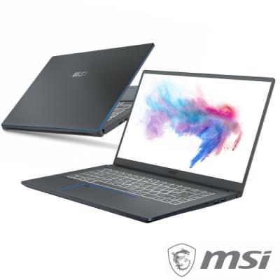 MSI微星 Prestige15 A11SCS-001TW 15吋輕薄商務筆電(i7-1185G7/16G/GTX1650Ti-4G/1T SSD/Win10)