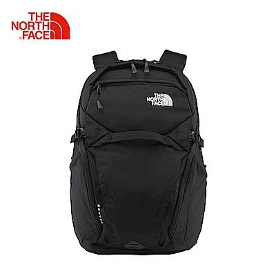 The North Face北面款黑色舒適通用雙肩背包