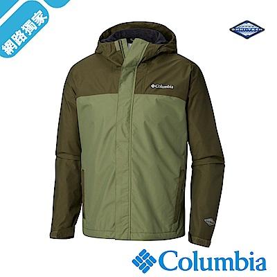 Columbia哥倫比亞 男-Omni-Tech防水透氣外套-苔綠UWE12400