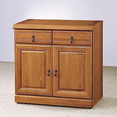 AS-堤姆正樟木2.7尺碗盤櫃下座-81x45x81cm