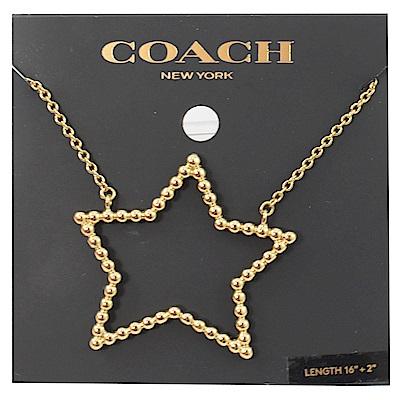 COACH 大星星造型項鍊(金)
