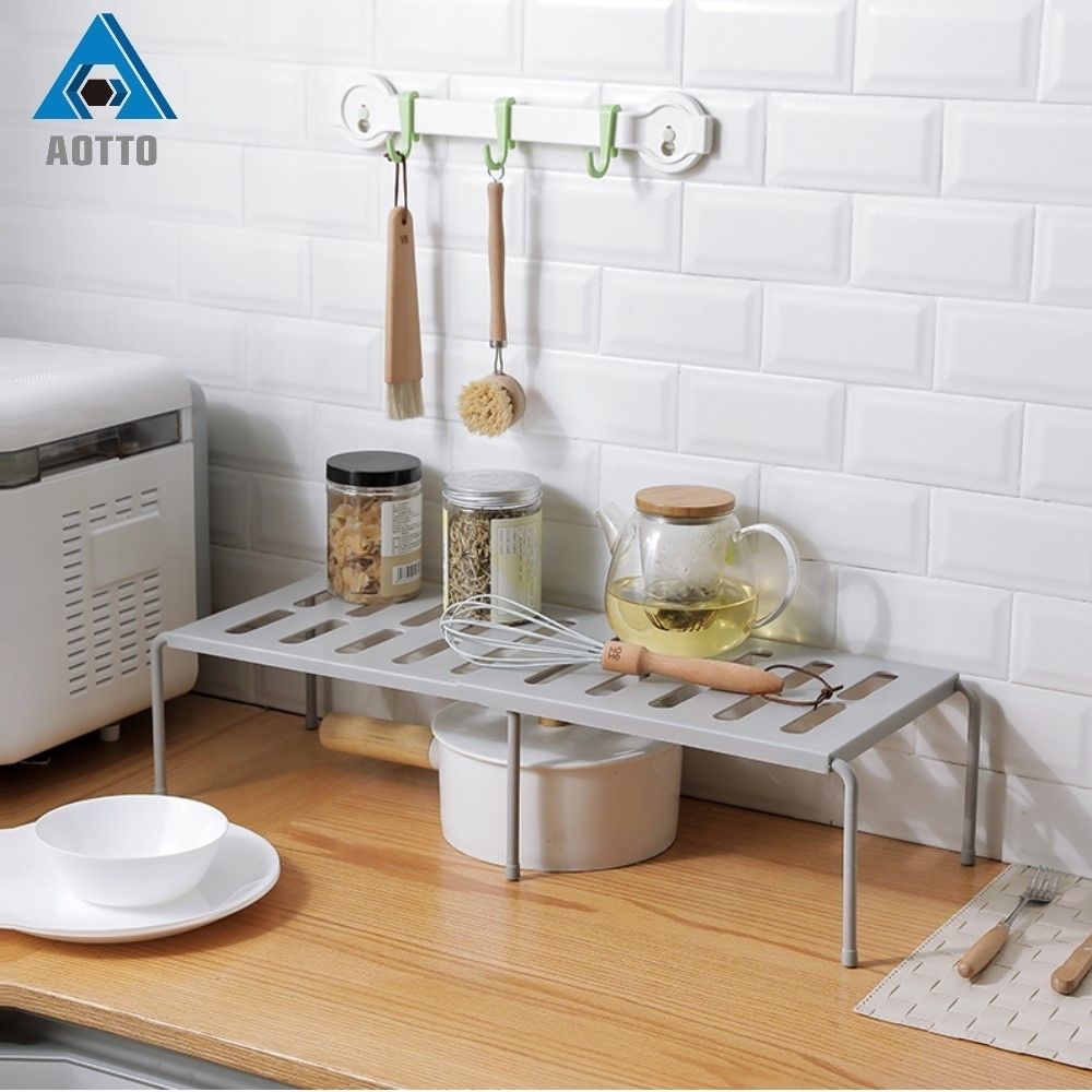 買一送一【AOTTO】多功能可伸縮 廚房 下水槽 置物架(簡易 方便 收納)