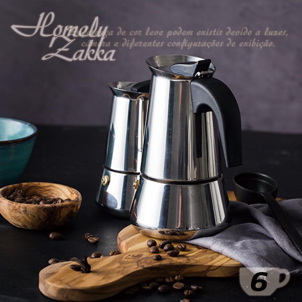 Homely Zakka 都會簡約不鏽鋼咖啡壼/摩卡壼(6杯)
