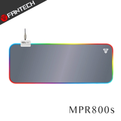 FANTECH MPR800s RGB燈效精密防滑加長版電競滑鼠墊(灰白)