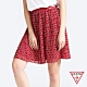 GUESS-女裝-復古印花圖騰雪紡短裙-紅 product thumbnail 1