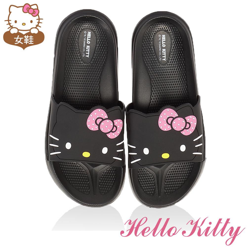 HelloKitty童鞋 輕量吸震內外兩用拖鞋-黑