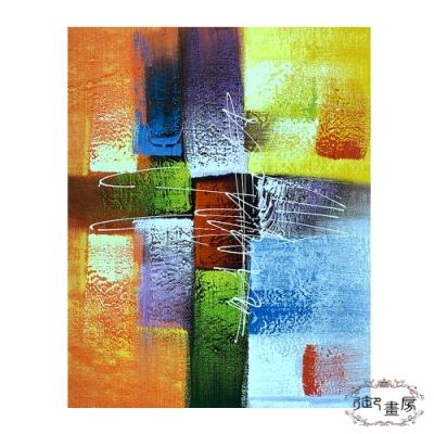 御畫房 手繪無框油畫-堆金疊玉 40x50cm