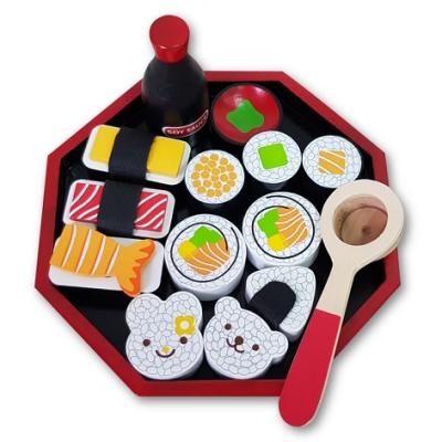 樂兒學嚴選 木製學習積木日本壽司便當玩具組