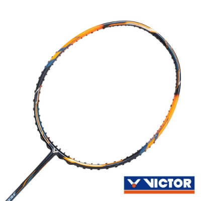 VICTOR 極速球拍-4U 螢光橘深藍