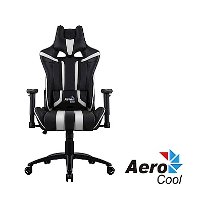 【Aerocool 愛樂酷 】AC120 AIR系列 競速超跑電競賽車椅(黑白色)