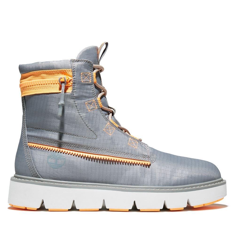 [限時]Timberland男款防撕裂織物6吋靴(2款任選) (B中灰色)