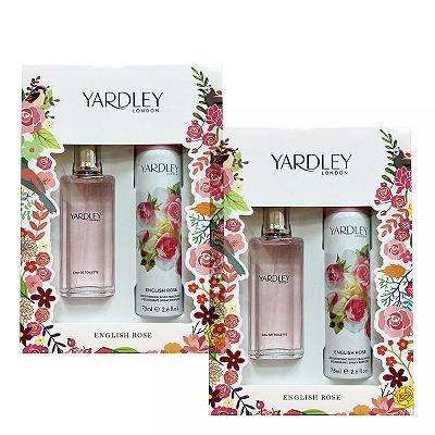 Yardley English Rose 英倫玫瑰淡香水- 香氛禮盒組 x 2 入