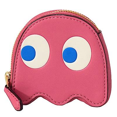 COACH PAC-MAN 小精靈造型粉紅色零錢包
