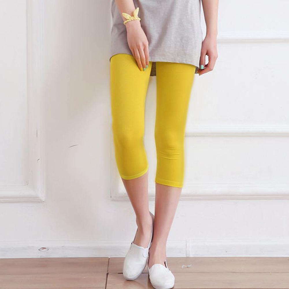 Lockers 木櫃 糖果色超薄網紗顯瘦七分褲/內搭褲(2色) product image 1