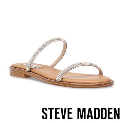 STEVE MADDEN-TRINKET 水讚雙細帶涼拖鞋-銀色