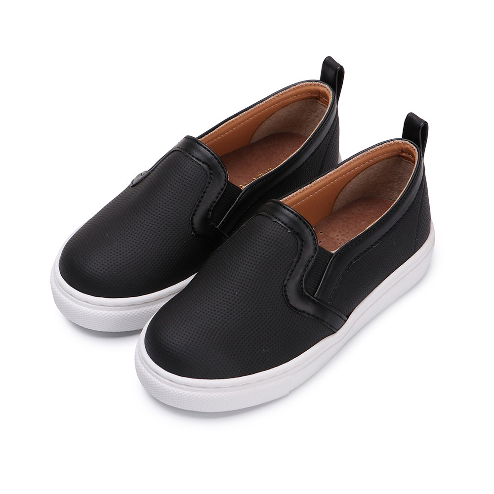 BuyGlasses 日系點點波紋兒童懶人鞋-黑