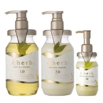 日本&herb 植萃豐盈美髮洗護組(洗髮乳1.0+護髮乳2.0+護髮霜3.0)