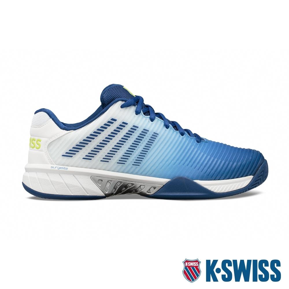 K-SWISS  Hypercourt Express 2 透氣輕量網球鞋-男-白/藍