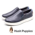 Hush Puppies 牛皮舒適工作鞋休閒鞋 男鞋- 深藍(另有棕)