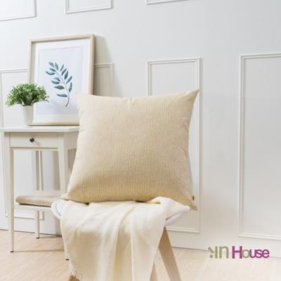 IN HOUSE-簡約系列抱枕-條紋黃(50x50cm)