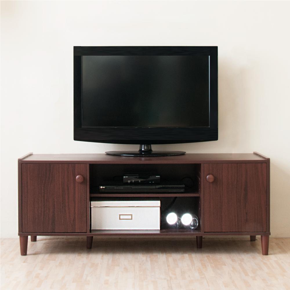 《HOPMA》DIY巧收原木系二門電視櫃/收納櫃-寬119 x深40 x高47cm