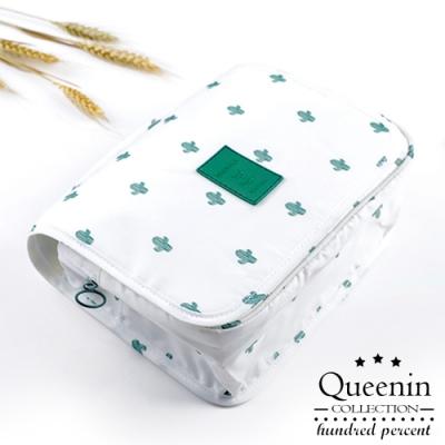 DF Queenin日韓 - 旅遊小確幸防潑水掛勾收納包-共2色