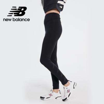 New Balance 螢光系列Logo靈感棉質緊身褲_女性_黑色_AWP01515BK