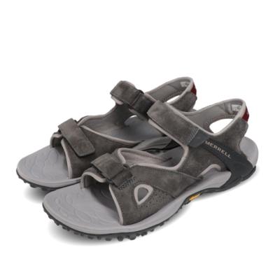 Merrell 涼拖鞋 Kahuna 4 Strap 運動 男鞋 戶外 透氣 麂皮 避震 耐磨 黃金大底 灰 紅 ML033665