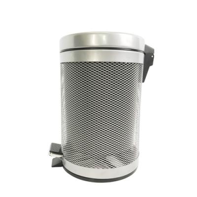 金德恩 台灣製造 高級烤漆時尚腳踏式3L垃圾桶