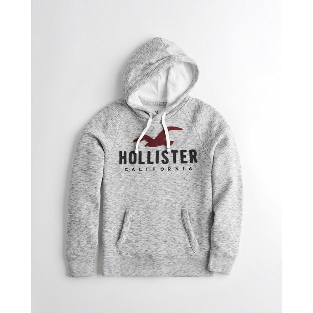 Hollister HCO 長袖 帽T  灰色 1137