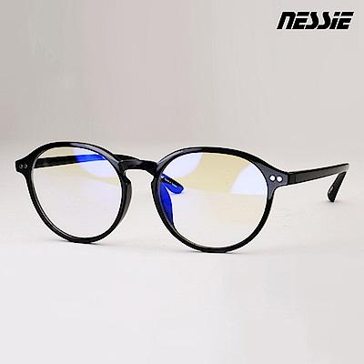 【Nessie尼斯眼鏡】抗藍光眼鏡-復古系列-文青黑