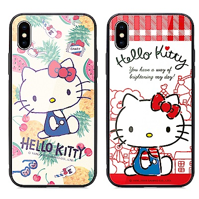GARMMA Hello Kitty iPhone Xs Max 鋼化玻璃殼