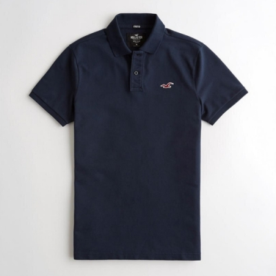 Hollister HCO 短袖 polo 藍色 1212