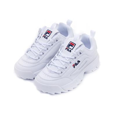 FILA DISRUPTOR 2 中性運動鞋(鋸齒鞋)-白 4-C113V-125