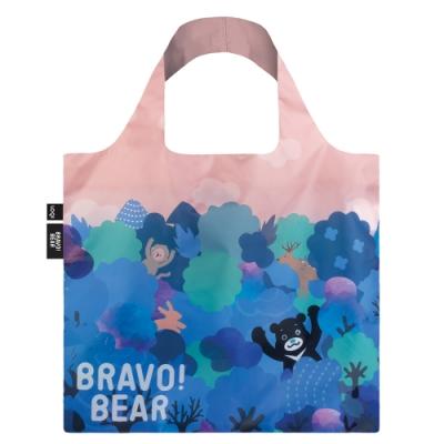LOQI 購物袋-熊讚BRAVO 授權 (熊讚 晚霞 BB01)