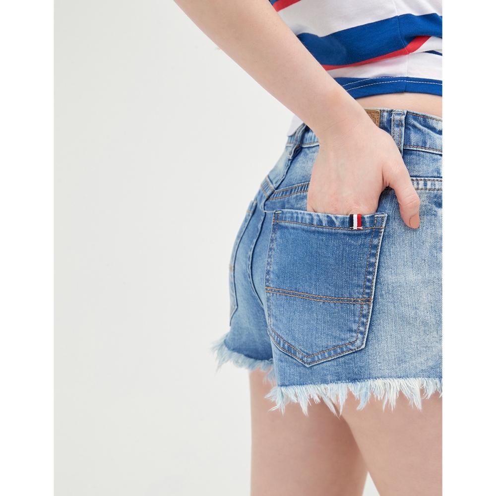 CACO-大抽鬚牛仔短褲-(兩色)-女【TAR012】