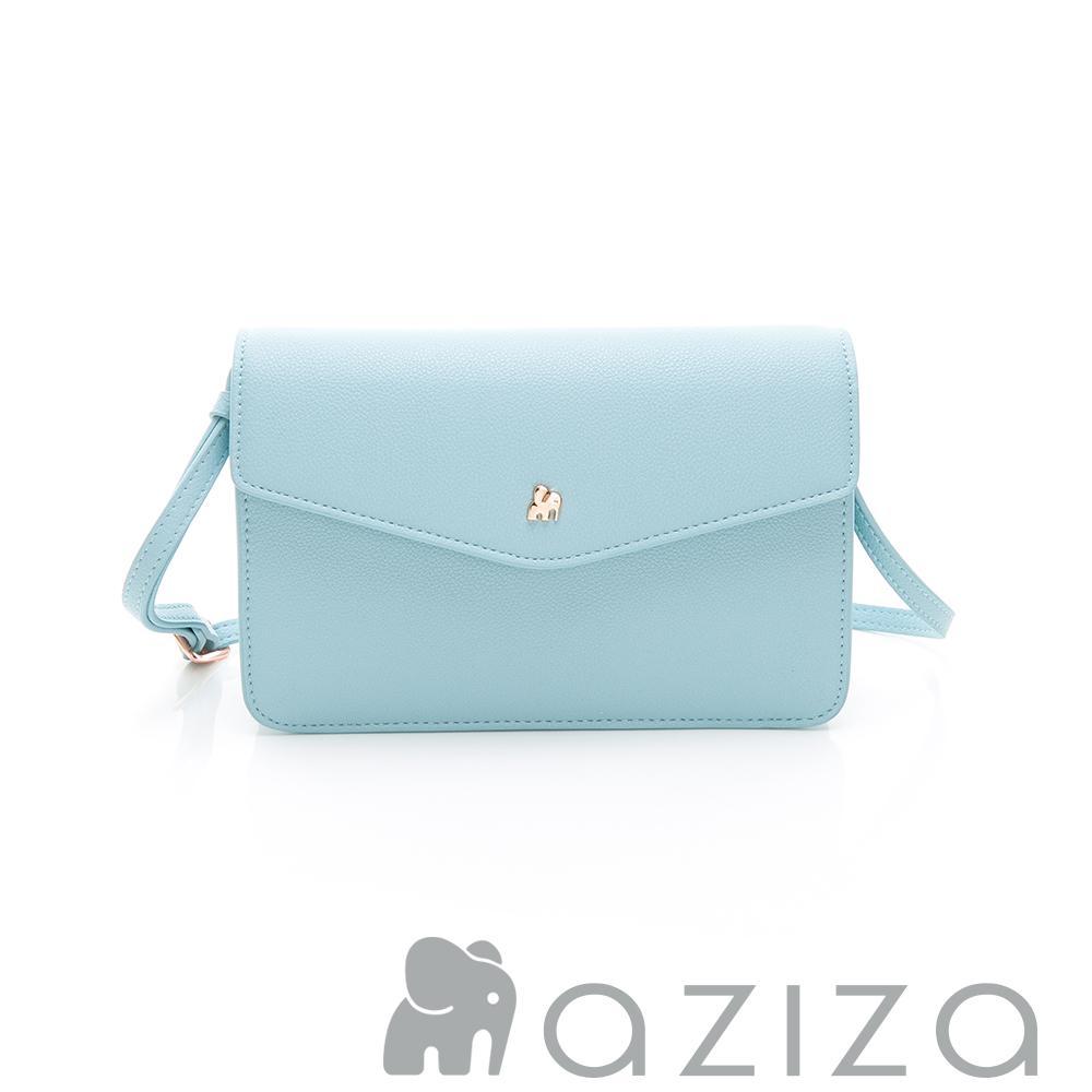 aziza CLARA 信封蓋皮夾包 天藍