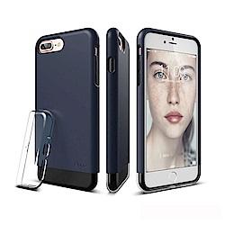 elago iPhone 7 Plus雙層耐衝擊手機保護殼 - 藍+透