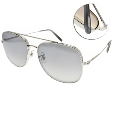 OLIVER PEOPLES太陽眼鏡  歐美時尚雙槓造型款/槍-漸層藍鏡片#TARON 50366I