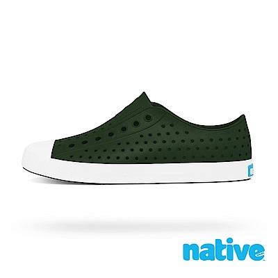 native JEFFERSON 男/女鞋-森林綠x貝殼白
