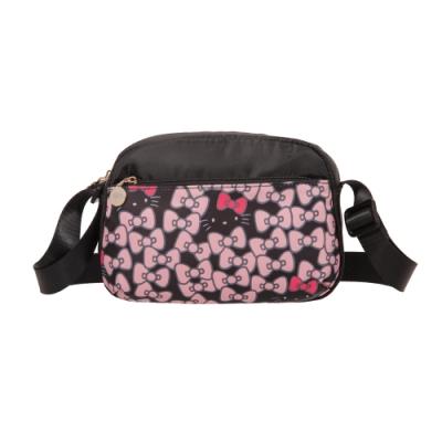 【Hello Kitty】凱蒂躲貓貓-側背包-黑 FPKT0G002BK
