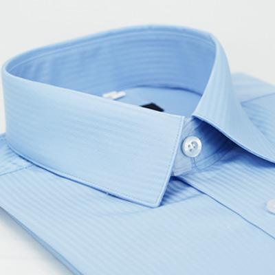 金‧安德森 藍色吸排窄版長袖襯衫fast
