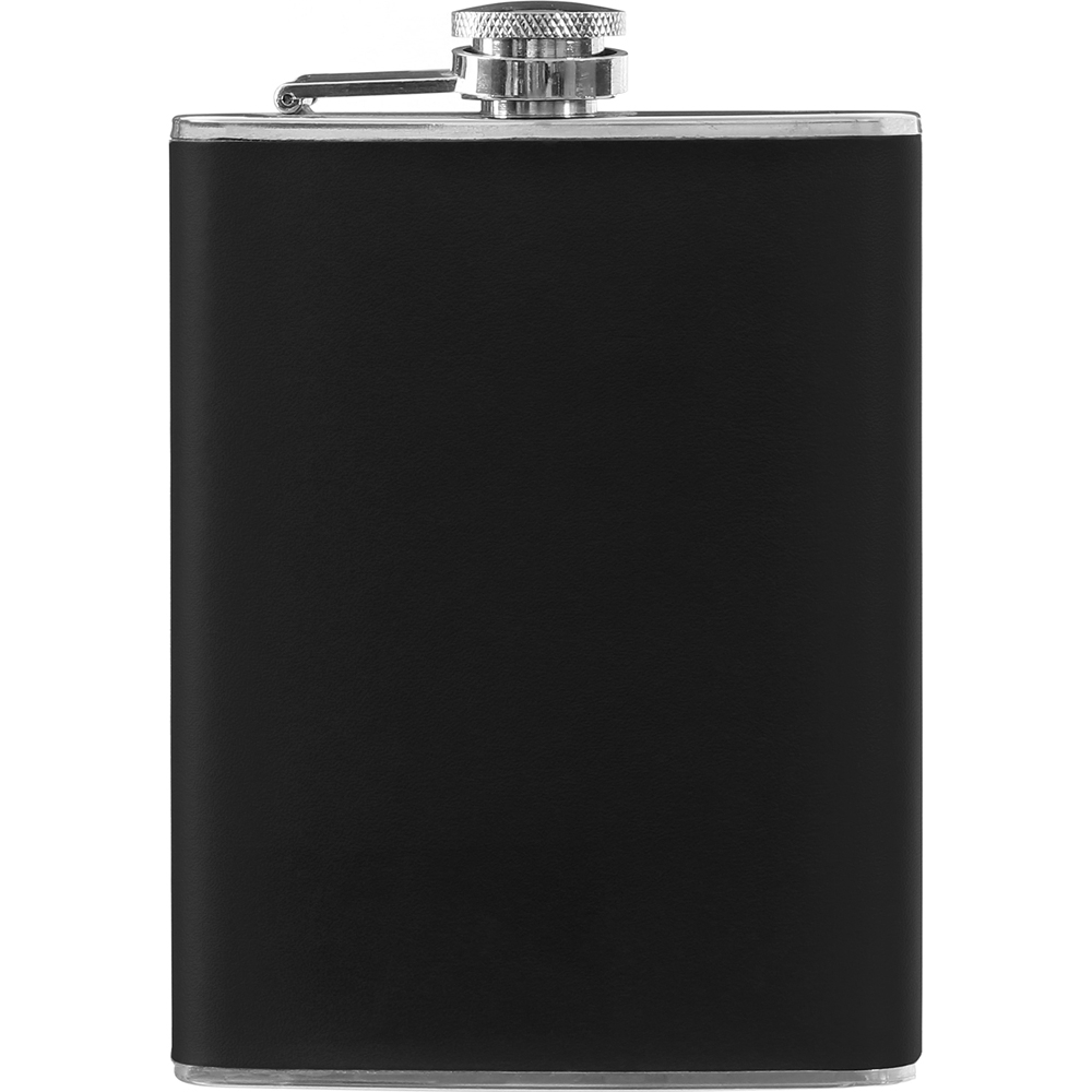《Premier》質感隨行酒壺(黑235ml)