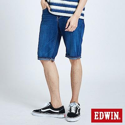 EDWIN 503基本復古牛仔短褲-男-中古藍