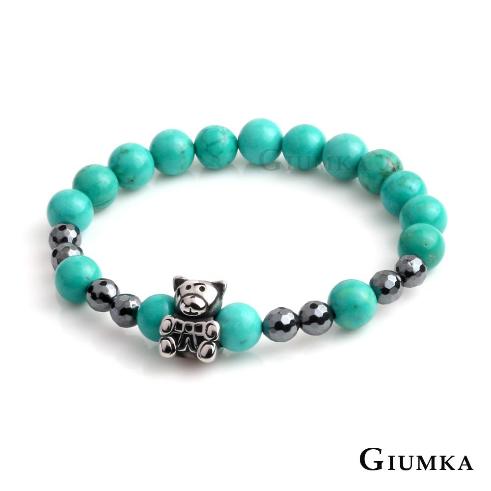 GIUMKA小熊多切面串珠彈性手鍊(八色任選)