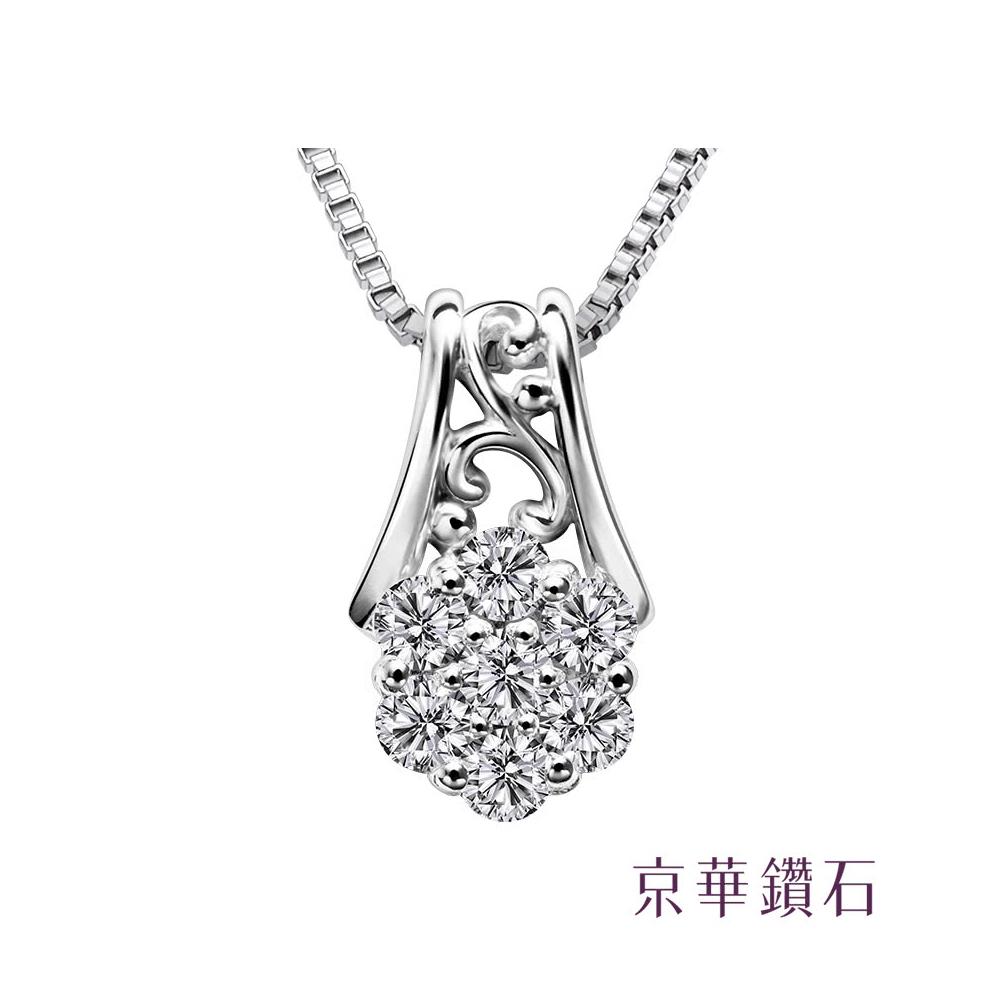 京華鑽石 小花朵一 0.10克拉 10K鑽石項鍊