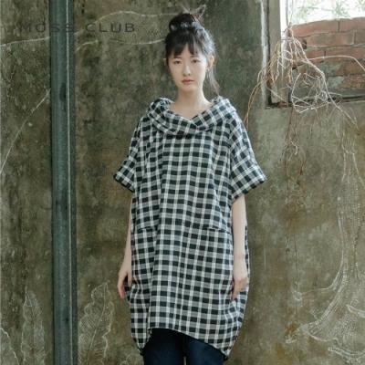 【MOSS CLUB】翻領造型設計-洋裝(黑色)
