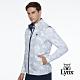 【Lynx Golf】男款防潑水防風保暖鋪棉雙面穿幾何印花無袖背心-白色 product thumbnail 2